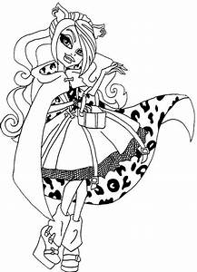 Beautiful Clawdeen Wolf Coloring Page Monster High