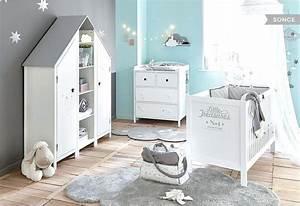 Deco Chambre Bebe Bleu : extraordinaire deco chambre bebe garcon garaon decoration bleu et gris design de maison ~ Teatrodelosmanantiales.com Idées de Décoration