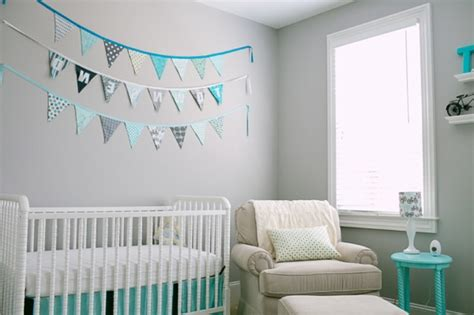 idee chambre bebe deco chambre bébé bleue aqua