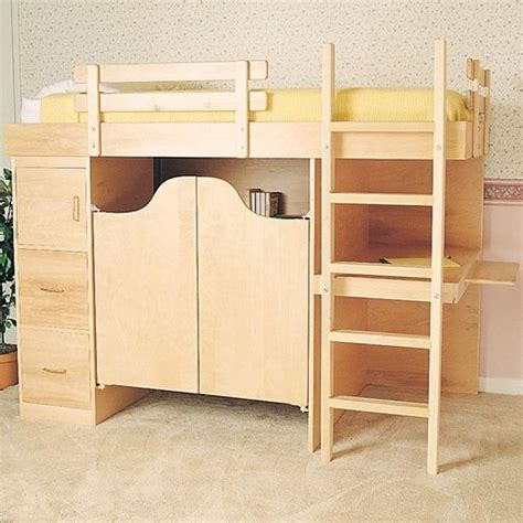 bild woodworking project paper plan  build    bunk bed plan
