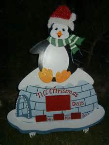 animated countdown to christmas winter wonderland penguin indoor outdoor display ebay