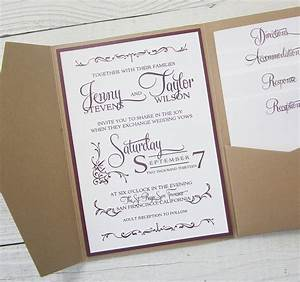 rustic kraft wedding invitation pocket country twine With pocket wedding invitations melbourne