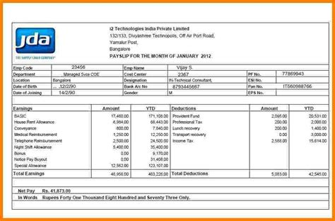 salary slip format  excel malaysia sales slip template