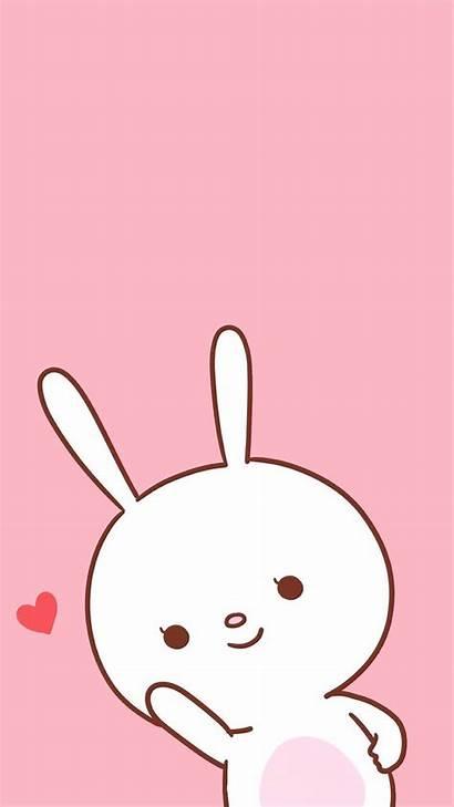 Wallpapers Kawaii Iphone Pink Cartoon Bunny Backgrounds