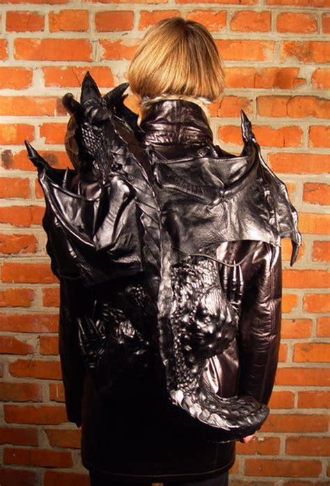 badder ass leather dragon backpack geekologie