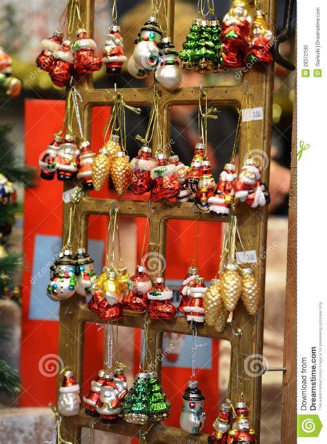 christmas tree decorations stock image image  city