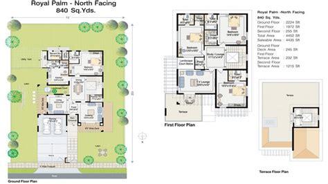 villa house plans facing villa plan villa house plans villas