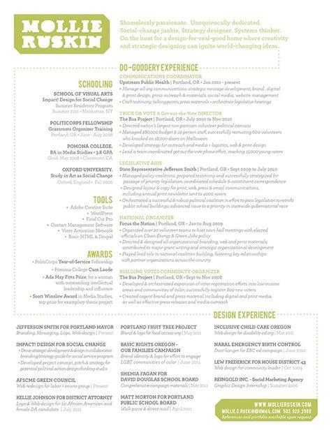 amazing resume design www mollieruskin graphic