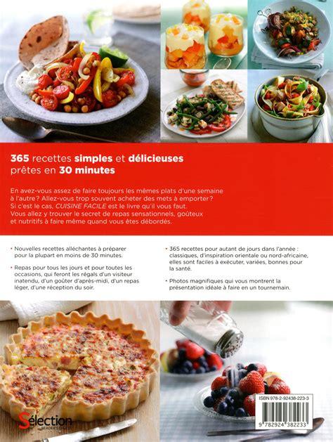 livre cuisine facile livre cuisine facile 365 recettes simples et délicieuses