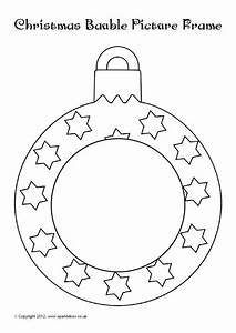 christmas bauble colour in photo frames sb8963 sparklebox With christmas baubles templates to colour