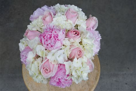 Peony Rose And Hydrangea Bridal Bouquet Stadium Flowers