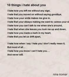 10 things i about you poem by komar poem