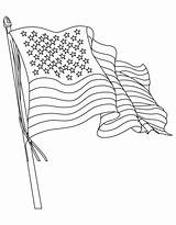 Flag American Coloring Printable Popular sketch template