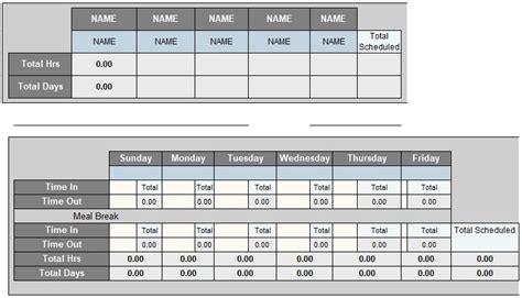 blank employee timesheet template excel tmp
