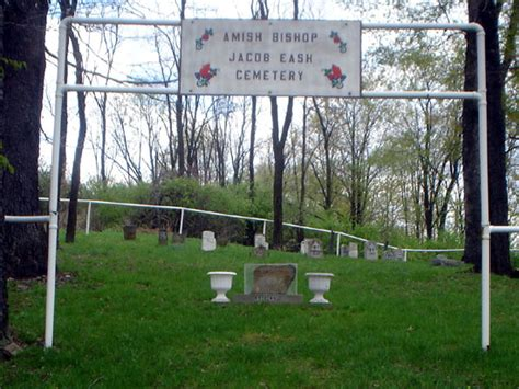 Amish Bishop Jacob Eash Cemetery Listing, Cambria County, PA