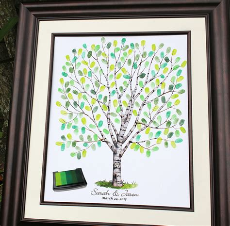wedding tree guest book guestbook alternative poster