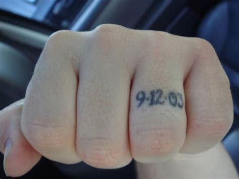 picture of awesome wedding ring tattoos