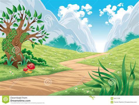 mountain landscape stock vector illustration  vector