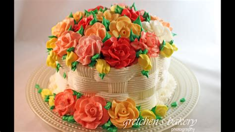 basketweave flower cake  beginners youtube