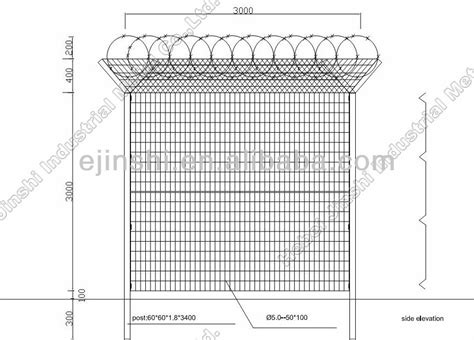standard fence height 3m height airport fence welded wire fence with concertina razor barbed wire buy welded wire