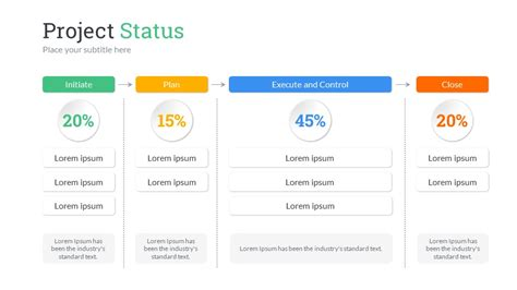 project status powerpoint  template  sananik