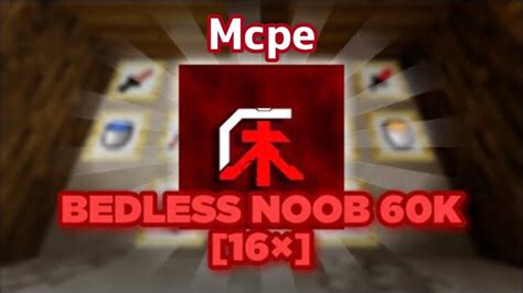 Bedless Noobs 60k Texture Pack 16x Mcpe Java Youtube