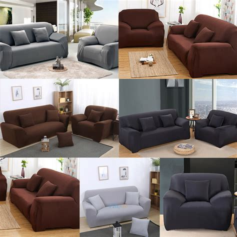 stretch settee covers 1 2 3 seater sofa cover slipcover stretch elastic