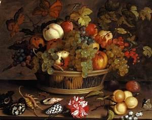 Natura morta con uva, mele, pesche, prugne e fiori Balthasar van der Ast