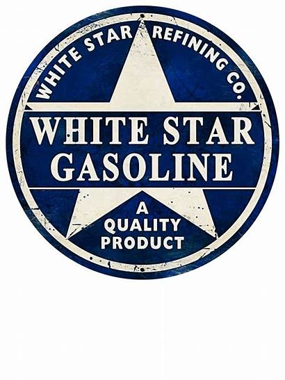 Signs Sign Gas Oil Gasoline Star Retro