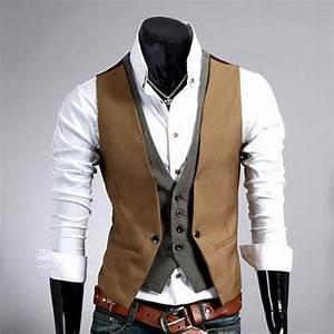 Gilet Sans Manche Homme Costume : gilet veston costume homme habille fashion double effet ~ Farleysfitness.com Idées de Décoration