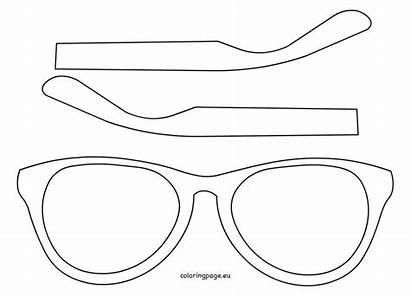Template Coloring Sunglasses Printable Templates Glasses Eyewear