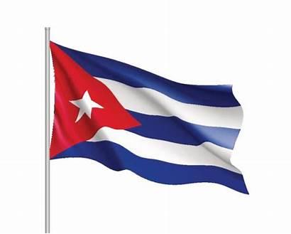 Cuba Flag Waving Rico Puerto Ondeggiamento Illustrazione