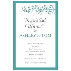 vine turquoise rehearsal dinner invitations paperstyle