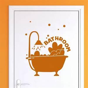 Stickers Porte Salle De Bain : sticker porte salle de bain moussant stickers art et ~ Dailycaller-alerts.com Idées de Décoration