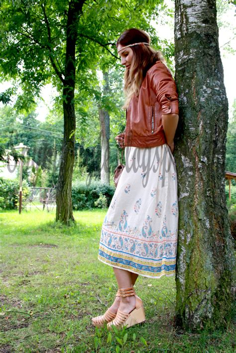 spy  style hippie inspirations   wear long skirt