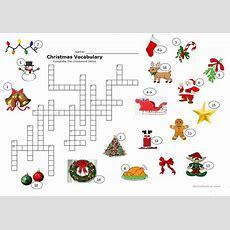 Christmas Crossword Worksheet  Free Esl Printable