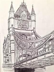 London Bridge Dessin : tower bridge sketch draw pinterest dessin aquarelle s coloriage ~ Dode.kayakingforconservation.com Idées de Décoration