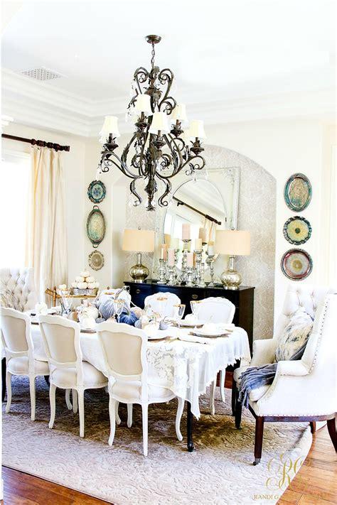 Glam Fall Dining Room Tour + Velvet Pumpkin Table  Randi