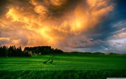 Landscape Stunning Sunset Definition Wallpapers Field Desktop