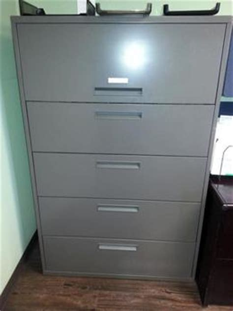 Meridian File Cabinets by Used Office File Cabinets Meridian 5 Drawer 42 Quot Wide