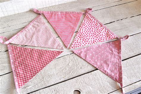 Pink Fabric Baby Girl Bunting   Chicy Rachael