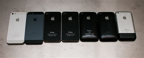 iphone generations list six generations of iphones performance compared the
