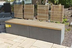 garten bank modern holz aus stein rinn beton und With französischer balkon mit garten mauern steine