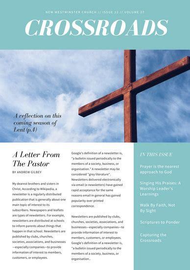black  white image border church newsletter templates
