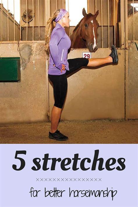 exercises horse riding horseback stretches stretching english