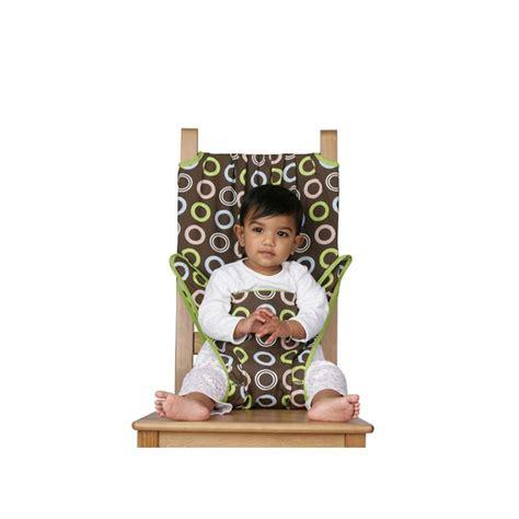 siege nomade chaise nomade de voyage en tissu totseat chocolat