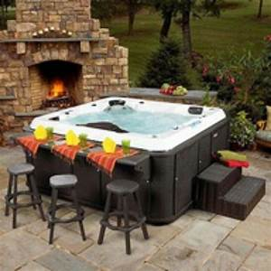 Side bar for hot tub Garden ideas Pinterest
