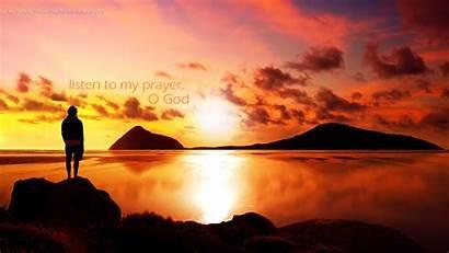God Christian Wallpapers Prayer Listen Sun Praise