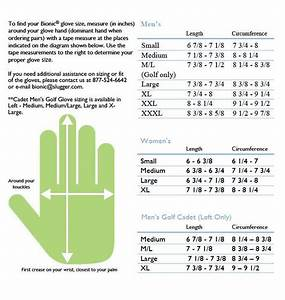 Golf Glove Size Chart Taylormade Images Gloves And