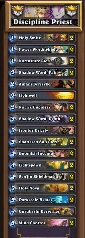 Cheap 3* Master Priest Deck